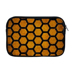 Hexagon2 Black Marble & Yellow Grunge Apple Macbook Pro 17  Zipper Case by trendistuff