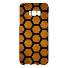 Hexagon2 Black Marble & Yellow Grunge Samsung Galaxy S8 Plus Hardshell Case