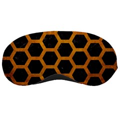 Hexagon2 Black Marble & Yellow Grunge (r) Sleeping Masks by trendistuff