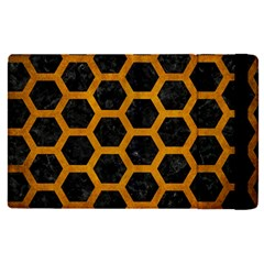 Hexagon2 Black Marble & Yellow Grunge (r) Apple Ipad Pro 9 7   Flip Case by trendistuff