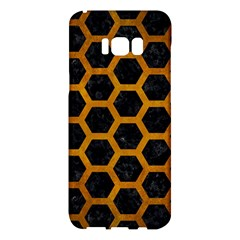 Hexagon2 Black Marble & Yellow Grunge (r) Samsung Galaxy S8 Plus Hardshell Case