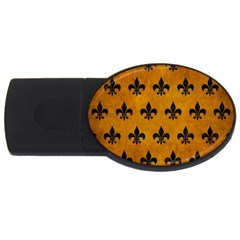 Royal1 Black Marble & Yellow Grunge (r) Usb Flash Drive Oval (4 Gb) by trendistuff