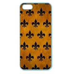 Royal1 Black Marble & Yellow Grunge (r) Apple Seamless Iphone 5 Case (color) by trendistuff