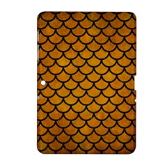 Scales1 Black Marble & Yellow Grunge Samsung Galaxy Tab 2 (10 1 ) P5100 Hardshell Case  by trendistuff