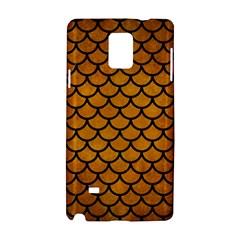 Scales1 Black Marble & Yellow Grunge Samsung Galaxy Note 4 Hardshell Case by trendistuff