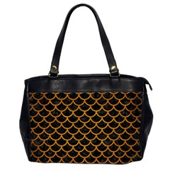 Scales1 Black Marble & Yellow Grunge (r) Office Handbags (2 Sides)  by trendistuff