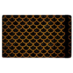 Scales1 Black Marble & Yellow Grunge (r) Apple Ipad 3/4 Flip Case by trendistuff