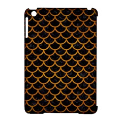 Scales1 Black Marble & Yellow Grunge (r) Apple Ipad Mini Hardshell Case (compatible With Smart Cover) by trendistuff