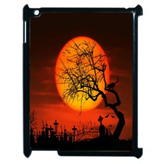 Helloween Midnight Graveyard Silhouette Apple Ipad 2 Case (black)