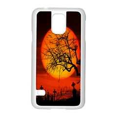 Helloween Midnight Graveyard Silhouette Samsung Galaxy S5 Case (white)
