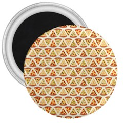 Food Pizza Bread Pasta Triangle 3  Magnets by Mariart