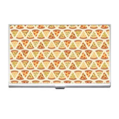 Food Pizza Bread Pasta Triangle Business Card Holders by Mariart