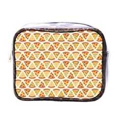 Food Pizza Bread Pasta Triangle Mini Toiletries Bags by Mariart