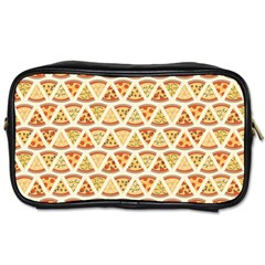 Food Pizza Bread Pasta Triangle Toiletries Bags 2 Side by Mariart