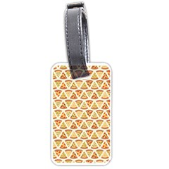 Food Pizza Bread Pasta Triangle Luggage Tags (one Side)  by Mariart