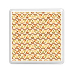 Food Pizza Bread Pasta Triangle Memory Card Reader (square)  by Mariart