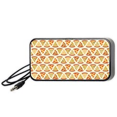 Food Pizza Bread Pasta Triangle Portable Speaker by Mariart