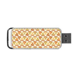 Food Pizza Bread Pasta Triangle Portable Usb Flash (two Sides) by Mariart