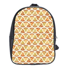 Food Pizza Bread Pasta Triangle School Bag (xl) by Mariart
