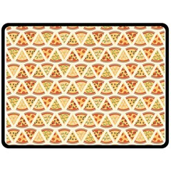 Food Pizza Bread Pasta Triangle Double Sided Fleece Blanket (large)  by Mariart