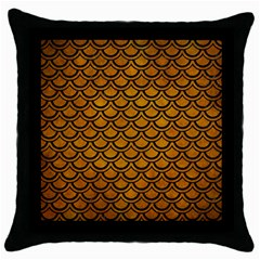 Scales2 Black Marble & Yellow Grunge Throw Pillow Case (black) by trendistuff
