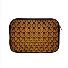 Scales2 Black Marble & Yellow Grunge Apple Macbook Pro 15  Zipper Case by trendistuff