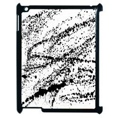 Ink Splatter Texture Apple Ipad 2 Case (black) by Mariart