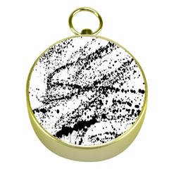 Ink Splatter Texture Gold Compasses by Mariart