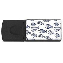 Love Fish Seaworld Swim Blue Sea Water Cartoons Rectangular Usb Flash Drive by Mariart