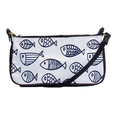 Love Fish Seaworld Swim Blue Sea Water Cartoons Shoulder Clutch Bags by Mariart