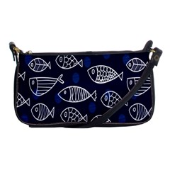 Love Fish Seaworld Swim Blue White Sea Water Cartoons Shoulder Clutch Bags by Mariart