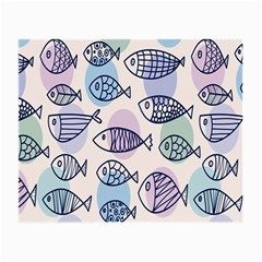 Love Fish Seaworld Swim Blue White Sea Water Cartoons Rainbow Polka Dots Small Glasses Cloth by Mariart