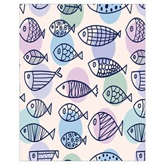 Love Fish Seaworld Swim Blue White Sea Water Cartoons Rainbow Polka Dots Drawstring Bag (small) by Mariart