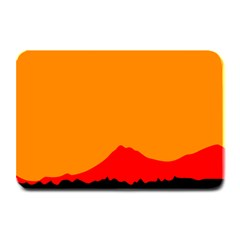 Mountains Natural Orange Red Black Plate Mats by Mariart