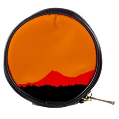 Mountains Natural Orange Red Black Mini Makeup Bags by Mariart