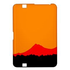 Mountains Natural Orange Red Black Kindle Fire Hd 8 9  by Mariart