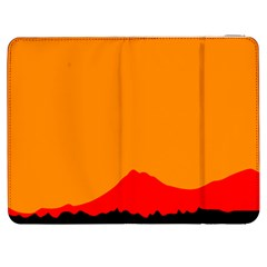 Mountains Natural Orange Red Black Samsung Galaxy Tab 7  P1000 Flip Case by Mariart
