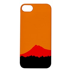 Mountains Natural Orange Red Black Apple Iphone 5s/ Se Hardshell Case by Mariart