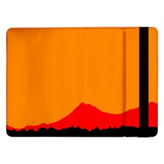 Mountains Natural Orange Red Black Samsung Galaxy Tab Pro 12 2  Flip Case by Mariart