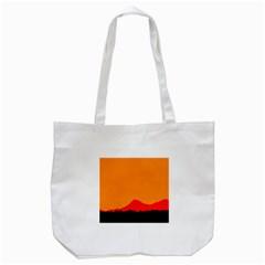 Mountains Natural Orange Red Black Tote Bag (white) by Mariart
