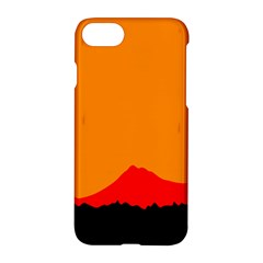 Mountains Natural Orange Red Black Apple Iphone 7 Hardshell Case by Mariart