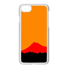Mountains Natural Orange Red Black Apple Iphone 8 Seamless Case (white) by Mariart