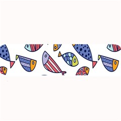 Love Fish Seaworld Swim Rainbow Cartoons Large Bar Mats by Mariart