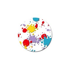 Paint Splash Rainbow Star Golf Ball Marker (10 Pack) by Mariart