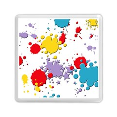 Paint Splash Rainbow Star Memory Card Reader (square)  by Mariart