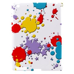 Paint Splash Rainbow Star Apple Ipad 3/4 Hardshell Case (compatible With Smart Cover) by Mariart