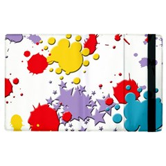 Paint Splash Rainbow Star Apple Ipad 3/4 Flip Case by Mariart