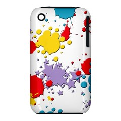 Paint Splash Rainbow Star Iphone 3s/3gs by Mariart