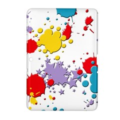 Paint Splash Rainbow Star Samsung Galaxy Tab 2 (10 1 ) P5100 Hardshell Case  by Mariart