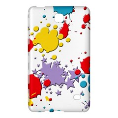 Paint Splash Rainbow Star Samsung Galaxy Tab 4 (8 ) Hardshell Case  by Mariart